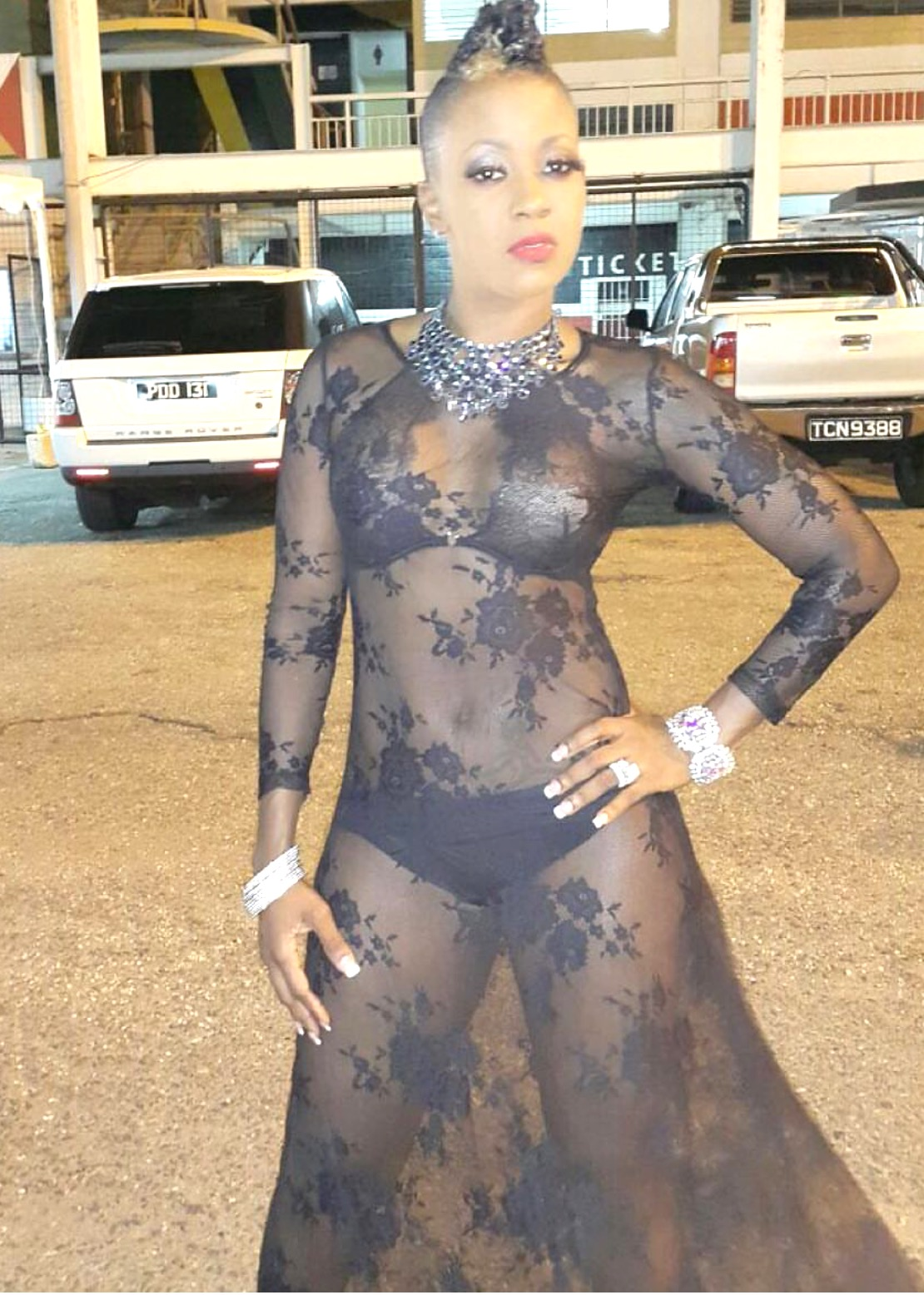 Fay-Ann Lyons rocked a see-through ensemble at Ladies Night Out 2016.