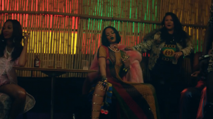 """A scene from Rihanna and Drake's video, """"Work"""""""