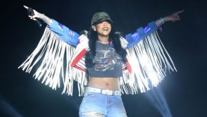 Rihanna surprised fans at Coachella on the weekend.