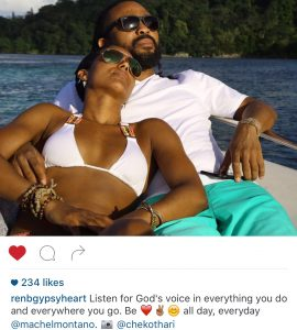 Butcher posted this image of time spend with Montano in Jamaica. Her caption spoke volumes.