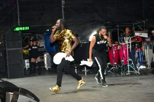 Machel performed alongside Jamaica's Mavado, at OVO Fest in Toronto on July 31st.