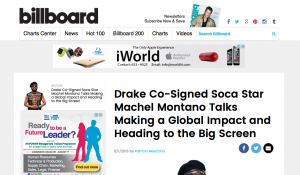 Billboard subliminally revealed that Machel was signed to Drake's Canadian label.