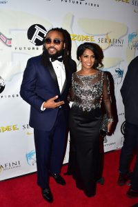 Machel Montano escorts his Bazodee co-star, Natalie Perera in NYC. for the premiere of the film in the US.