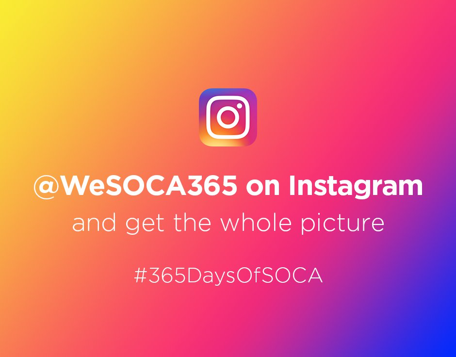 Follow @wesoca365 on Instagram
